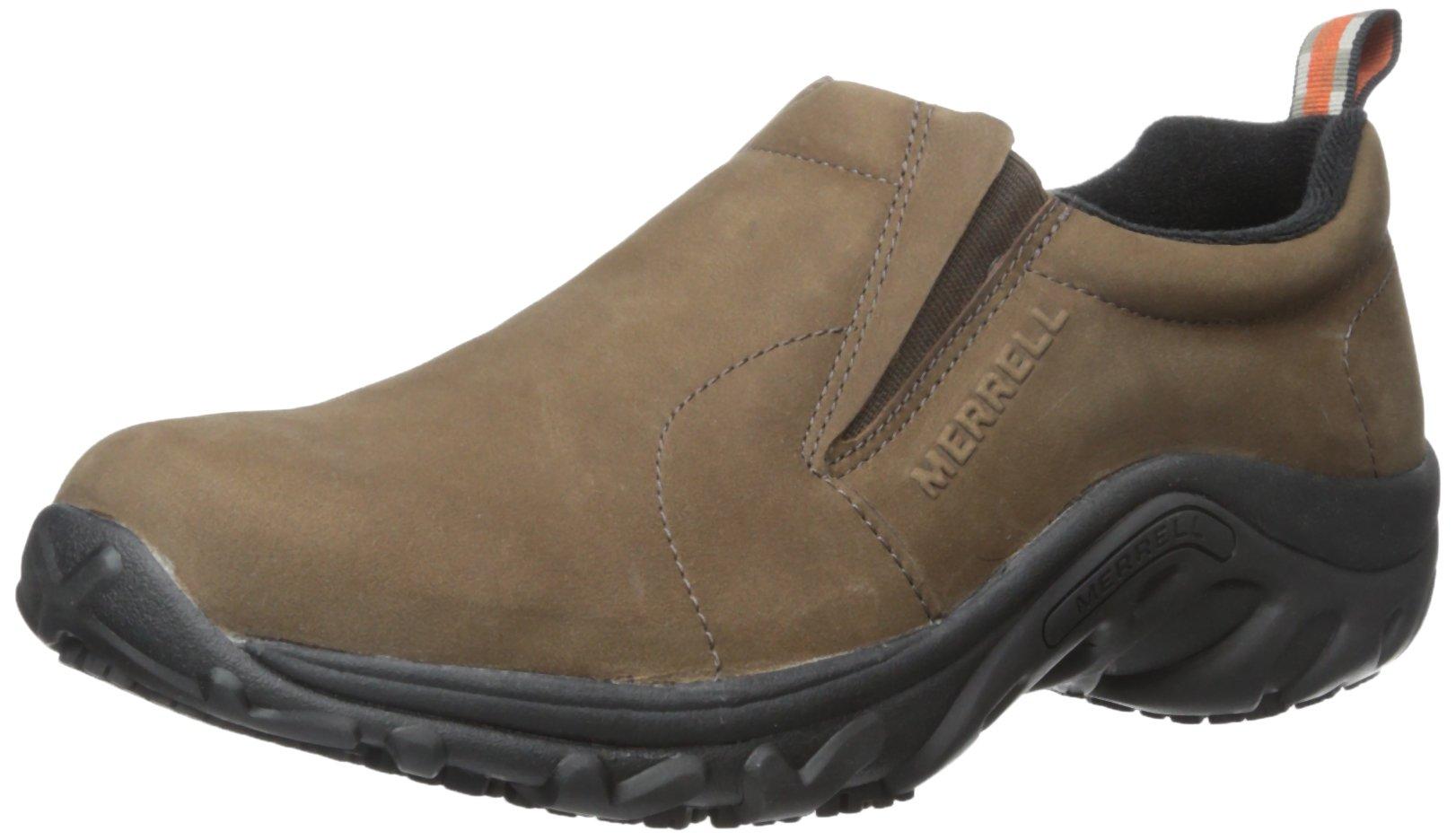 Merrell Men's Jungle Moc Pro Grip Nubuck Slip-Resistant Work Shoe, Brown, 8 M US