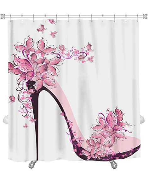 Amazon.com: BelleWCELN Premium Shower Curtain ,Shoes On A High Heel ...