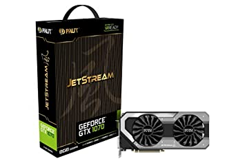 Palit GeForce NVIDIA GTX 1070 JetStream Series 8 GB GDDR5 Pci Express 3 0  Graphics Card - Black