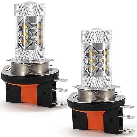 Bombilla LED H15 DRL antiniebla, luz de carretera 12 V 80 W 16 Cree chips