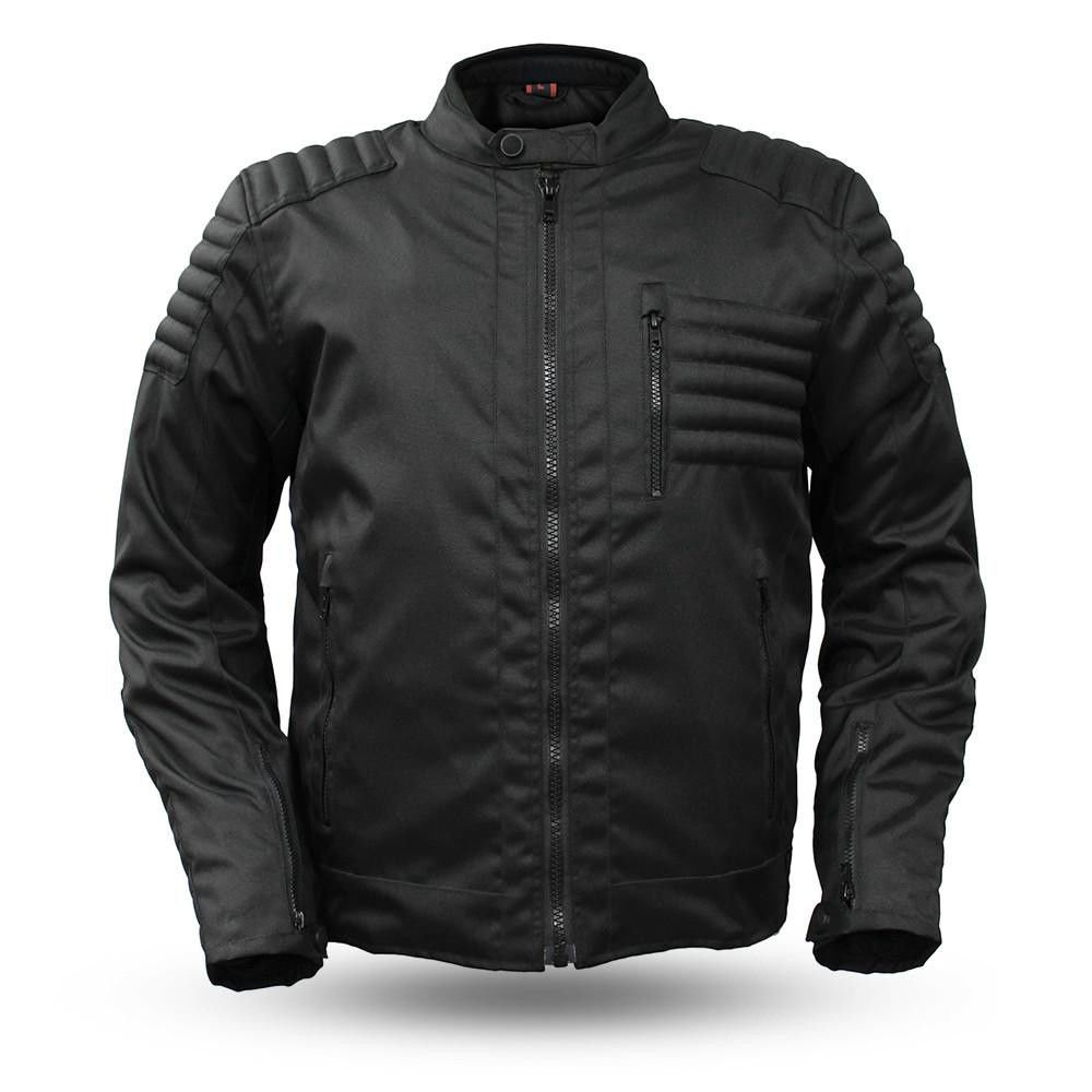 First Manufacturing Men's Motorcycle Light Weight Waterproof Textile Zipout Liner Jacket with armors (2XL Regular)