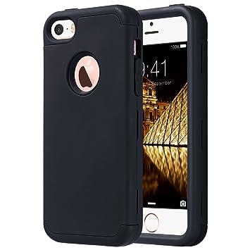 ULAK Caso del iPhone 5s iPhone SE Funda iPhone 5 Carcasa Protector de Impacto Case para el iPhone SE / 5S / 5 (Negro)