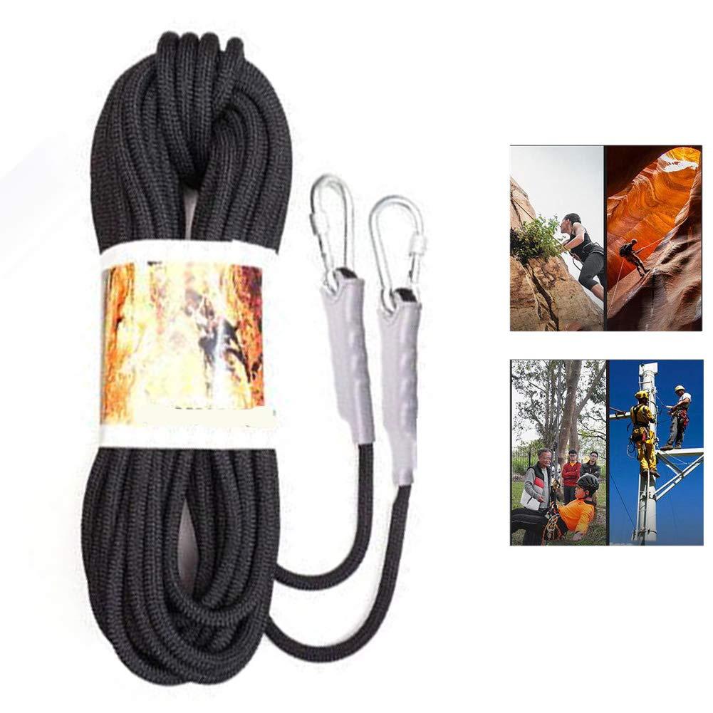DASGF Bergsteiger-Roplierung Rope Mit 2 Stellen-Schnallen, 10-Meter-Luftarbeit Rope.12mm Rope.12mm Rope.12mm Nylon, Überlebensgetriebe für Camping Outdoor-Wandern, Zelten, Camping, Höhlen, Ingenieurwesen B07Q4CL88Z Einfachseile Große Auswahl 2c5631