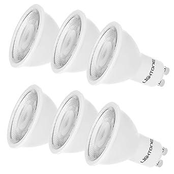 Lightone Bombilla LED 5W GU10, Equivalente a 50W bombillas halógenas, Luz calida 3000K,