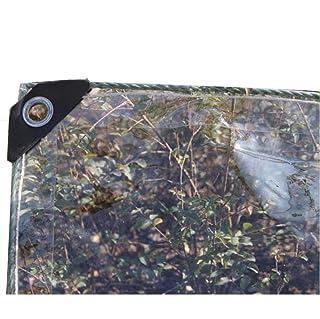 Telone Impermeabile A Prova di Vento Tela Copertura Resistente Pellicola di plastica Anti età Anti-Strappo Morbido e Facile da Piegare Isolamento Tenda 95% Trasparente