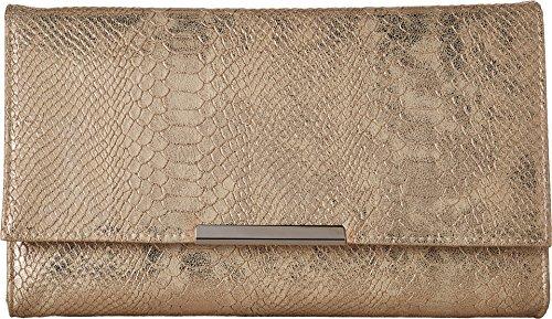 (Jessica McClintock Women's Nora Metallic Snake Large Envelope Clutch Gold One Size)