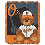 MLB Baltimore Orioles Field Woven Jacquard Baby Throw Blanket, 36x46-Inch