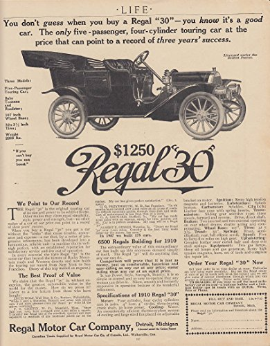 You don't guess when you buy a Regal 30 Touring Car ad 1910 - Buy Guess