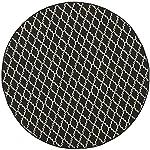"Safavieh Courtyard Collection CY6919-226 Black and Beige Indoor/ Outdoor Round Area Rug (710"" Diameter)"