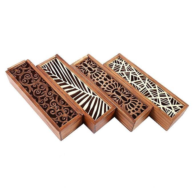 Caja de lápices de madera con tapa deslizante | Diseños ...