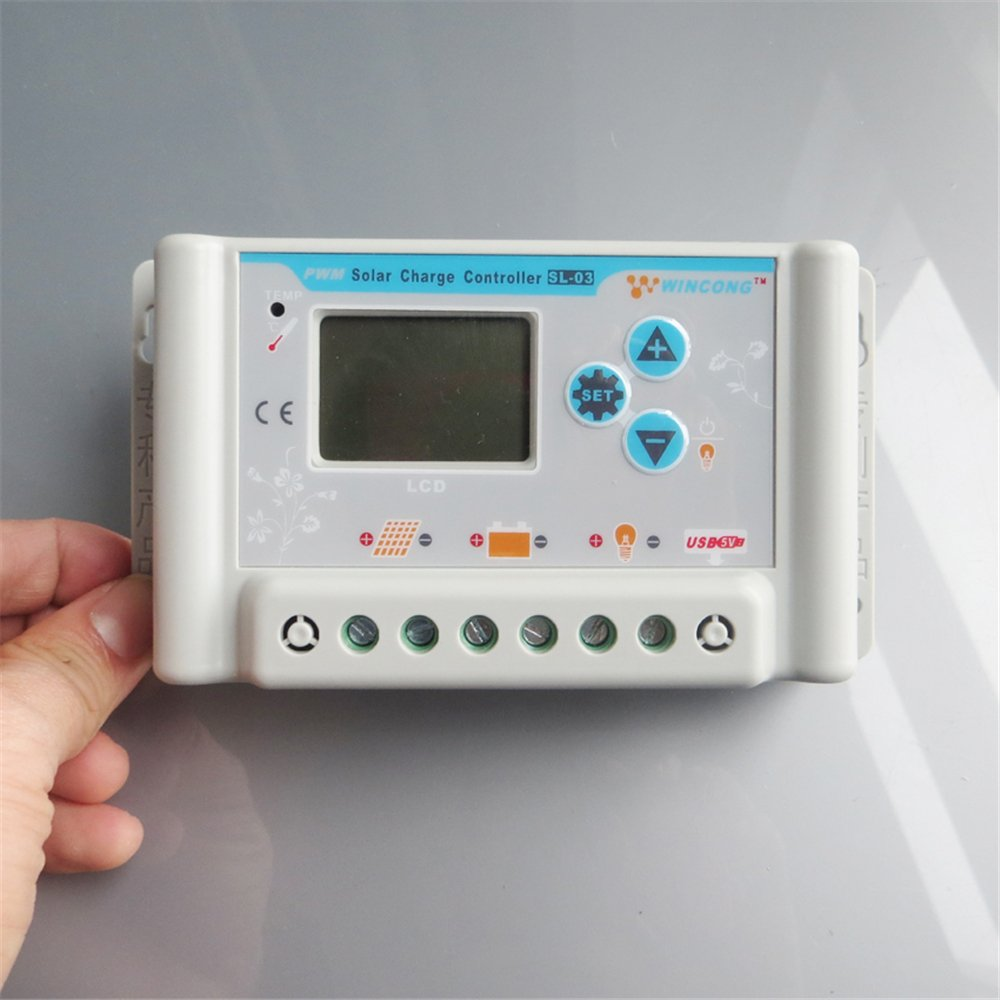 ZHC Solar Charge Controller 20A/30A for Lithium Battery with USB, LCD (20A, 12V / 24V)