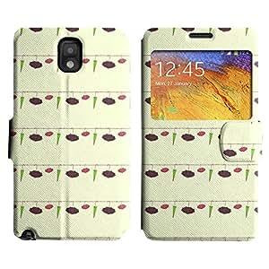 LEOCASE Paraguas Lindo Funda Carcasa Cuero Tapa Case Para Samsung Galaxy Note 3 N9000 No.1000876