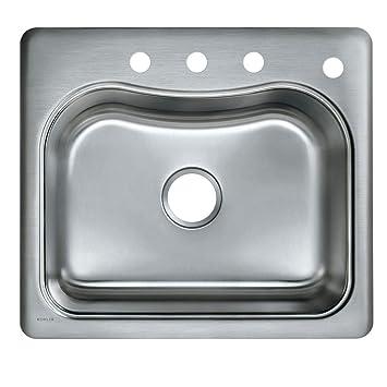 Kohler K 3362 4 Na Staccato Single Basin Self Rimming Kitchen