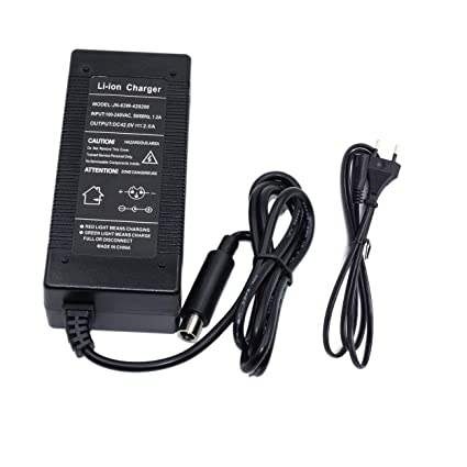 anyilon - Cargador de batería eléctrico para Patinete 42 V 2 ...