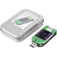 USB Power Meter, USB 2.0 Color LCD Display Tester Voltage Current Power Meter Energy Capacity Charge Measure Electric…