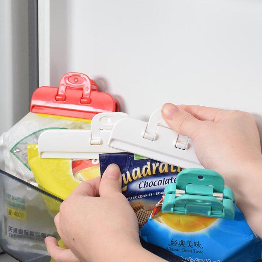 non-brand MagiDeal 2 Pcs Edelstahl Clips Lebensmittel Taschen Verschlu/ßklammer Drei Gr/ö/ße Auswahl S