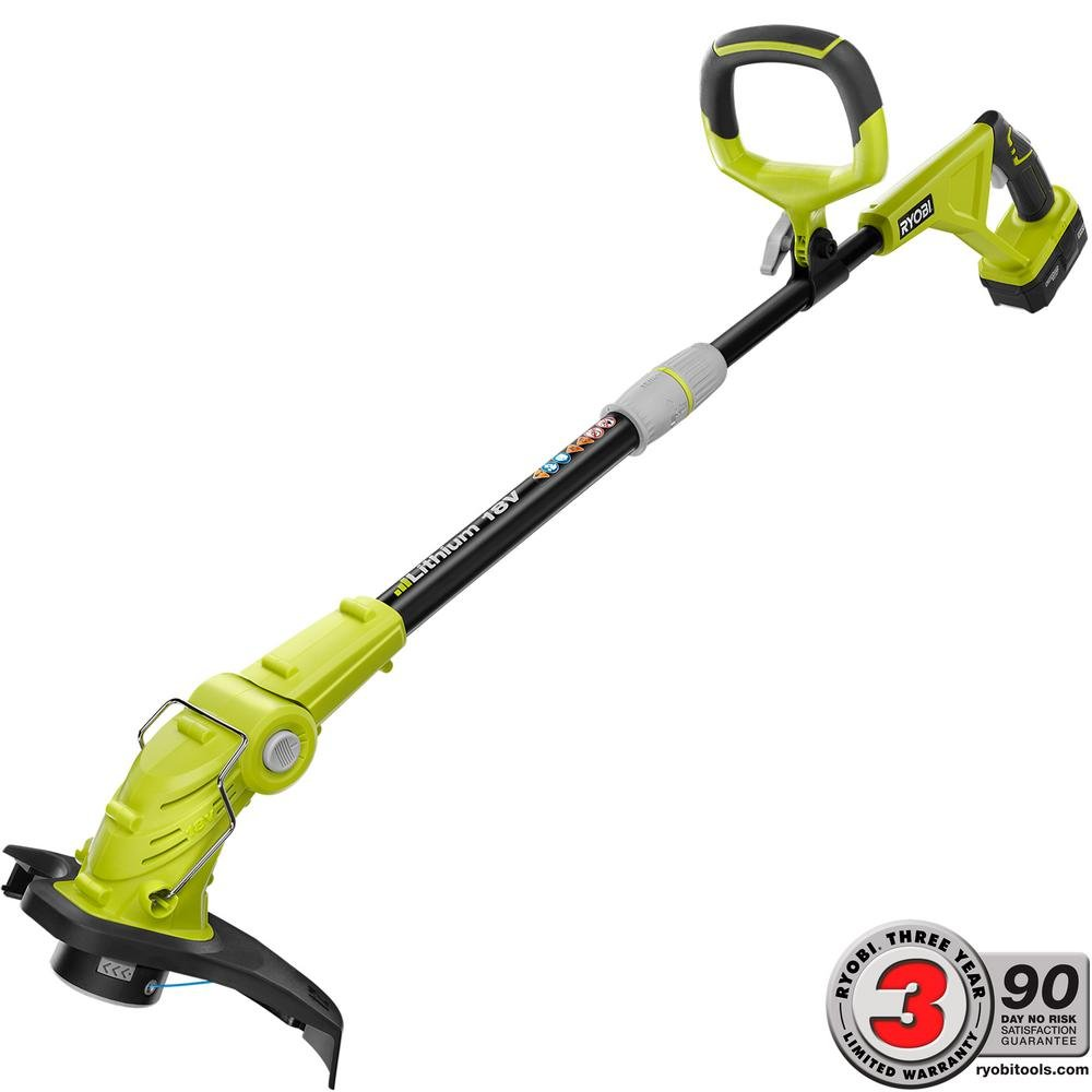 Ryobi 18-Volt Lithium-Ion Cordless String Trimmer/Edger   Works With All Ryobi ONE+ Tools And Batteries