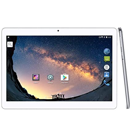 YUNTAB Tablet 10.1 Pulgadas 3G WiFi Android,Dual Sim,Quad-Core 1.3GHz,2 GB RAM + 16 GB ROM,IPS Touch Screen,con Bluetooth GPS OTG (Blanco)