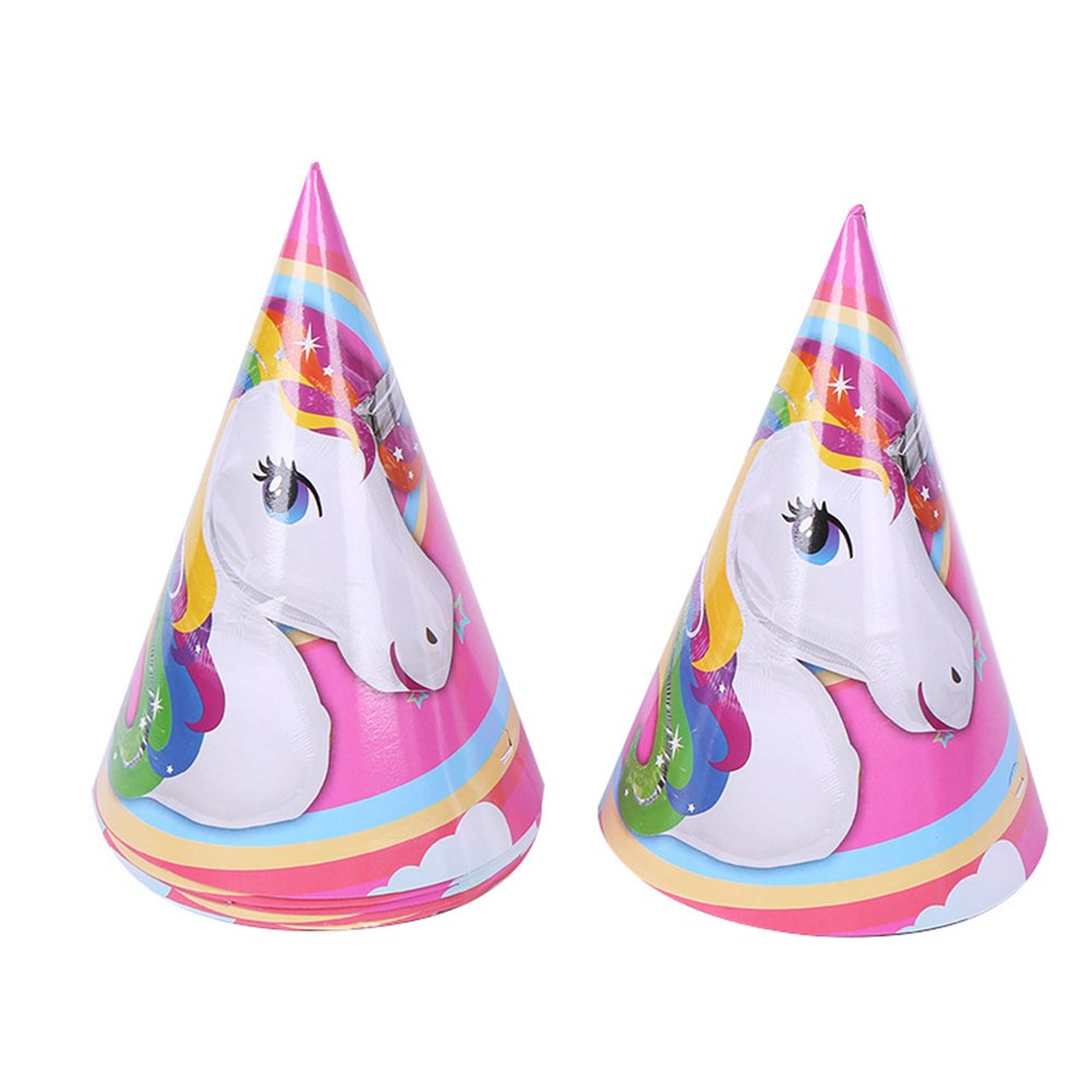 Braceus Unicorn Theme Party Supplies Decoration Happy Birthday Paper Cup Plate Hat Box