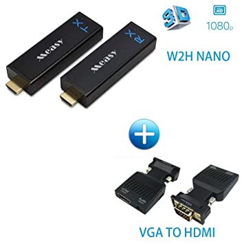 Measy wireless hdmi transmitter receiver extender up to amazon measy wireless hdmi transmitter receiver extender up to 30m 100ft w2h nano vga publicscrutiny Images