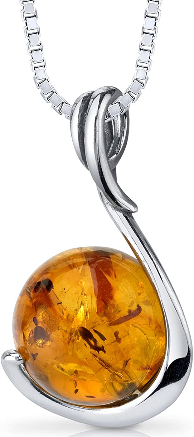 amber silver necklace Baltic amber drop with silver chain necklace gift idea for women
