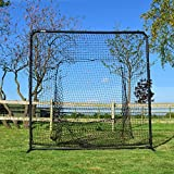 FORTRESS Baseball Sock Net Screen – Pro Quality Soft Toss Sock Style Net & Square Frame [Net World Sports]