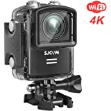 SJCAM M20 Wifi Real 4K Action Camera 16MP Sony Sensor/ Remote Control/ Gyro Stabilization/ 166° Wide FOV Distortion Correction Underwater Camera+ Waterproof Case- Black