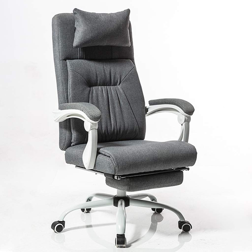 Modern Racing Style Office Chair with Back Support Headrest Lumbar Cushion Footrest Gaming Chair for Meeting Study Game Office Supplies by MGJO