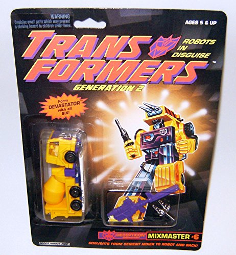 Transformers Generation 2 Mixmaster  6 Yellow Action Figure
