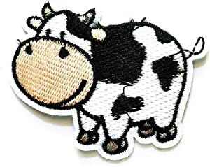 PP Patch Cute Cow Farm Animal Stickers Cartoon Pattern Applique or Sew On Patches for T-Shirt Jeans