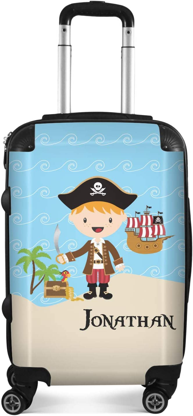 Pirate Scene Suitcase 20 Carry On Personalized