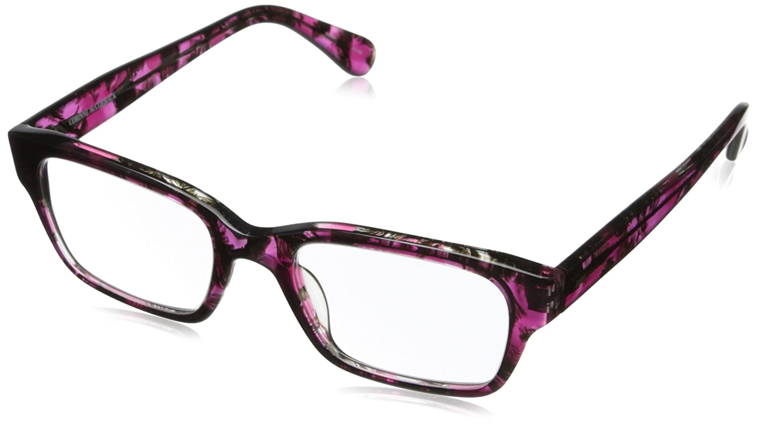 Amazon.com: Corinne McCormack Women\'s Sydney Square Reading Glasses ...