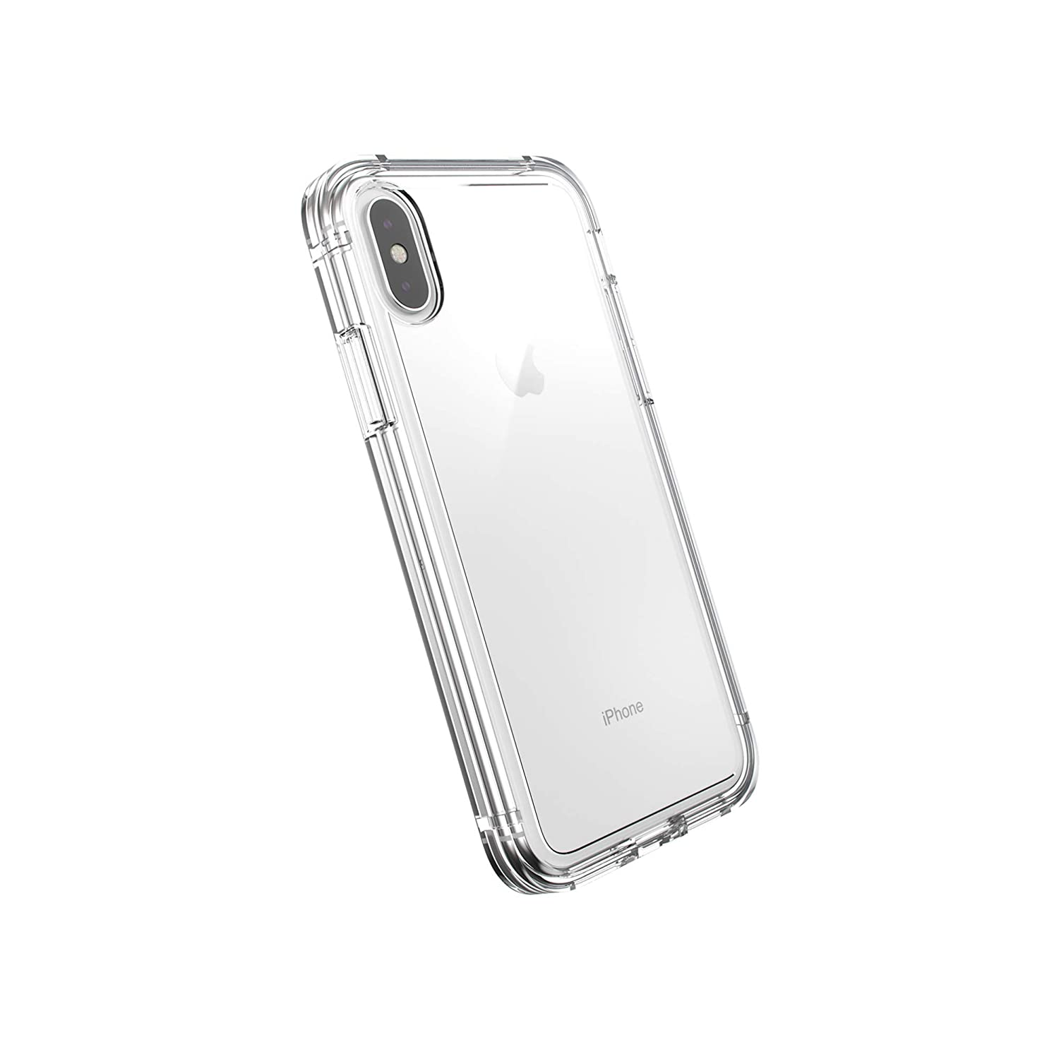 AmazonBasics Dual-Layer Case for iPhone XS/iPhone X, Clear