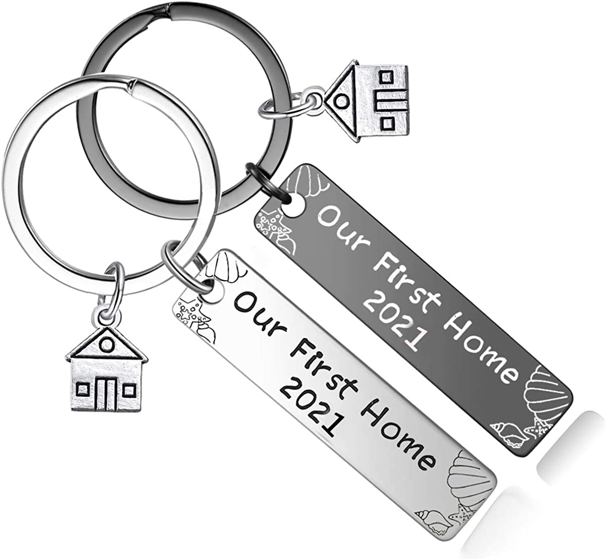 New Home Housewarming Gifts - Our First Home Keychain 2021 Realtor Closing Gift New Home Owners Keyring