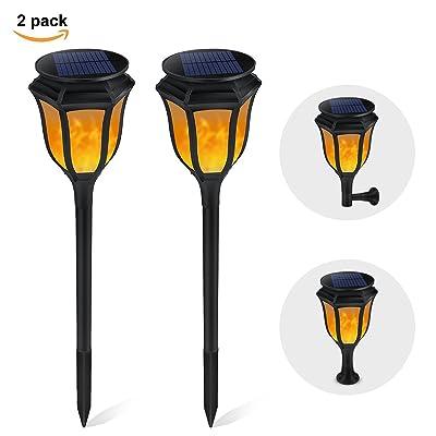B-right 2 pcs Lampe Solaire de Jardin Lumière Décorative ...