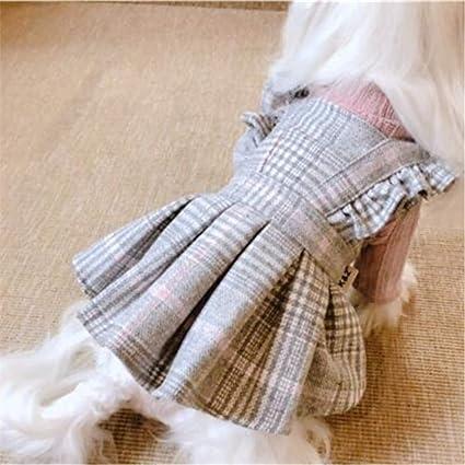 WANGHHH Ropa para Perros con Cuello De Piel Cachorro Yorkshire Terrier Chaqueta Abrigo Ropa, L
