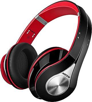 Mpow 059 Auriculares Diadema Bluetooth con Micrófono CVC 6.0, 25 hrs de Reproducir, Sonido Estéreo, Auriculares Diadema Inlámbricoa para TV, Cascos Bluetooth Diadema Plegable para Skype/PC/Móvil, Rojo: Amazon.es: Electrónica