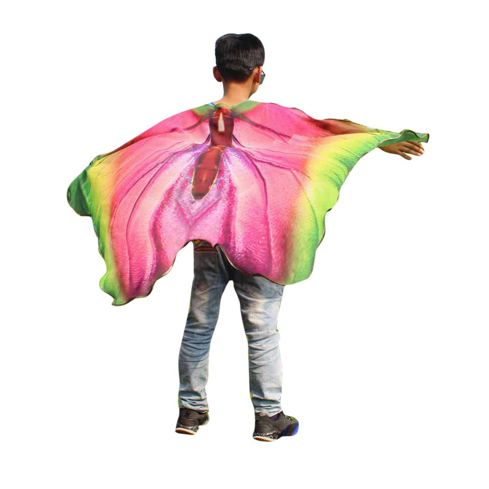 NUWFOR Christmas Womens, Soft Fabric Butterfly Wings Shawl Fairy Ladies Nymph Pixie Costume Accessory?Multicolor?One Size?