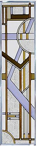 Deco Tectural Color 42 x 10.25 Vertical Stained Glass Panel