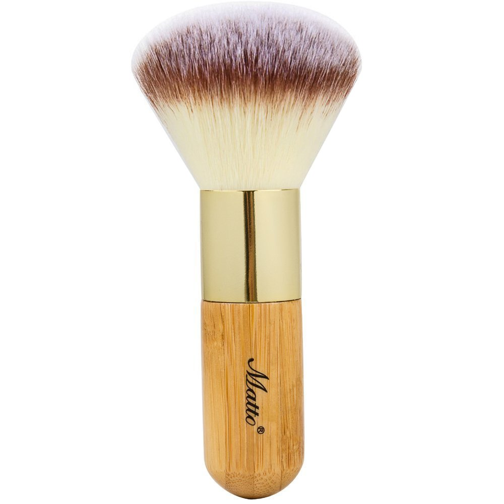 Matto Bamboo Powder Mineral Kabuki Brush - Large Coverage Powder Mineral Foundation Makeup Brush 1 Piece MZ
