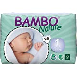 Bambo Nature Premium Baby Diapers, Size 1 ( 4-9 lbs) , 28 Count