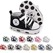 Meckior Save Beautiful Toddler Baby Girls Boys Shoes Infant First Walkers Sneakers (0-6 Months, black2)
