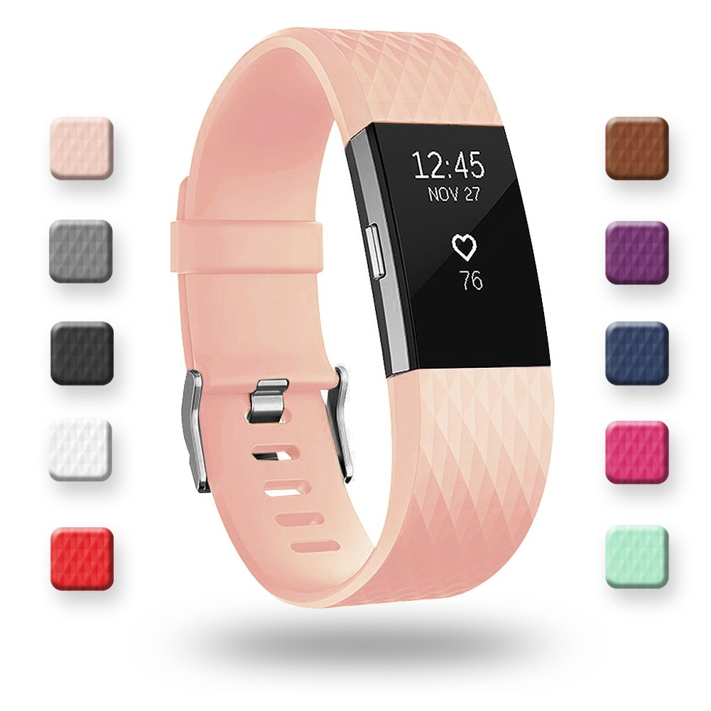 Poy Fitbit Charge 2バンド調節可能クラシックSpecial Edition交換Wristbands for Fitbit Charge 2 B076Z91ZL5 S (for 5.5-6.7