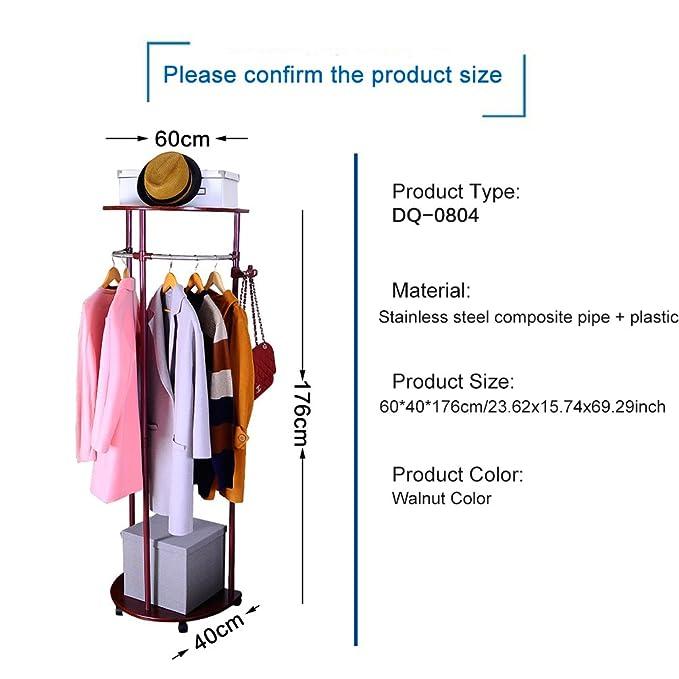 Baoyouni Capa movible estante resistente Vintage ropa ropa colgante estante sombrero chaqueta árbol paraguas suspensión de soporte con 5 ganchos: Amazon.es: ...