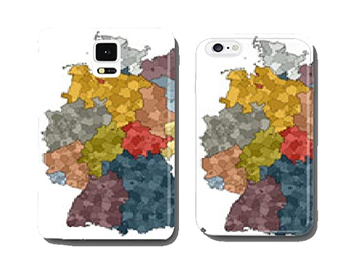 map of germany german federal states and counties mobile phone cover pare ntitem
