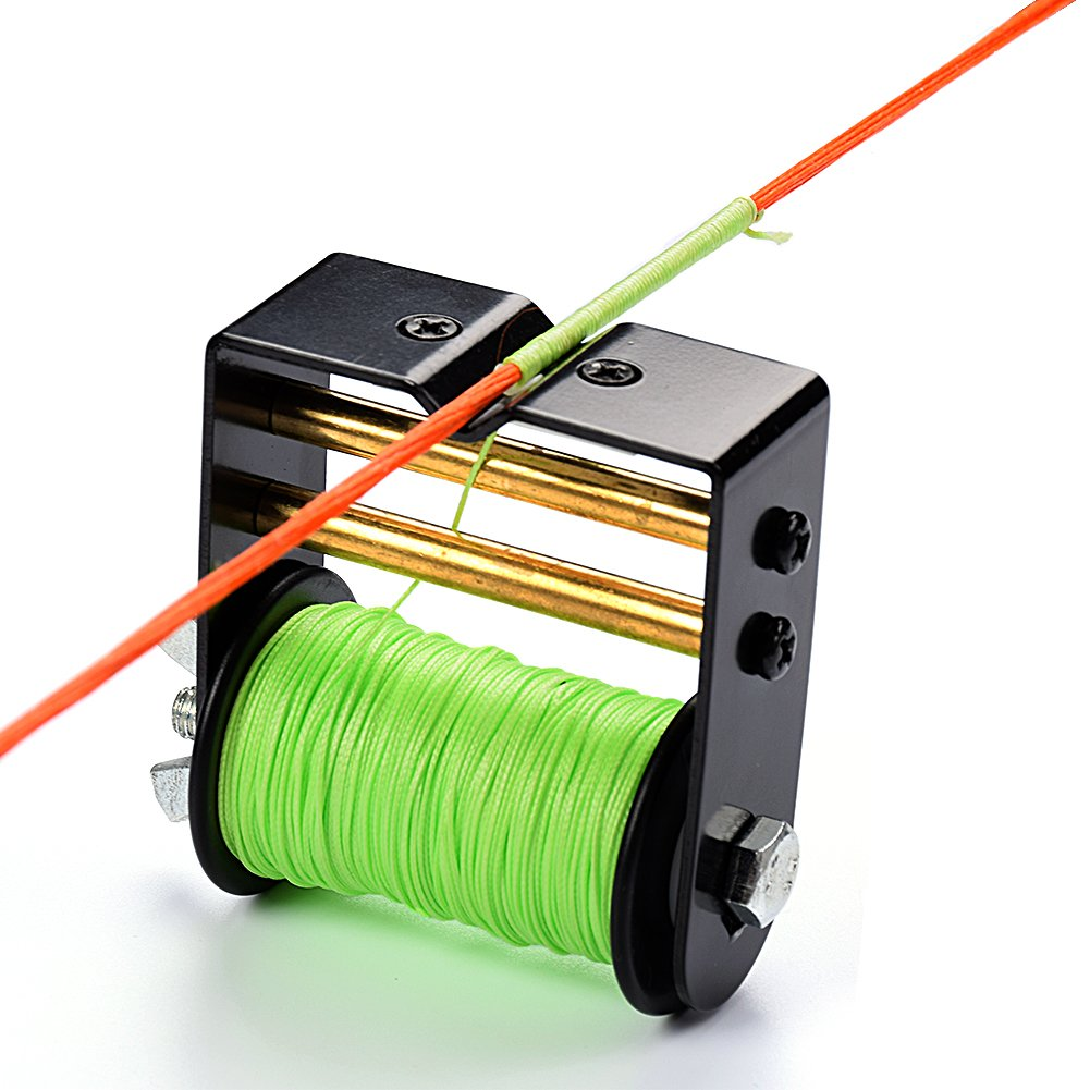 """Ww Zat Bow String Serving Jig Serving Thread Adjustable Tension Control 30 Meter/Roll 0.021"""" for Various Bow(Pack of 1) Color Green"""
