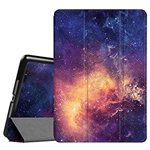 "Fintie New iPad 9.7 Inch 2017 Case - Ultra Slim Lightweight Smart Shell Standing Cover with Auto Wake / Sleep Feature for Apple iPad 9.7"" 2017 Release Tablet, Galaxy"