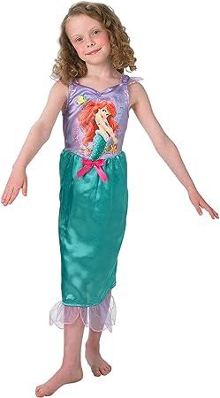 Princesas Disney - Disfraz de Sirenita Ariel para niña, infantil 5 ...