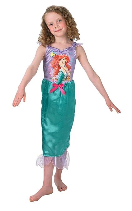 Princesas Disney - Disfraz de Sirenita Ariel para niña, infantil 3-4 años (Rubies 888787-S)