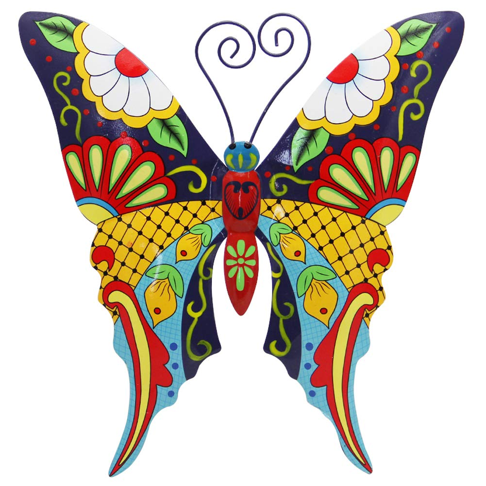 Juegoal Metal Wall Art Inspirational Butterfly Wall Decor Sculpture Hang Indoor Outdoor for Home, Bedroom, Living Room, Office, Garden (Butterfly)